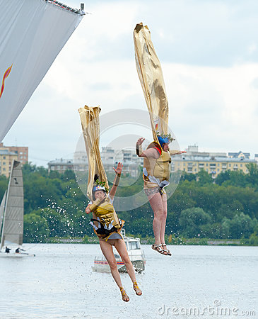 Red Bull Flugtag in Moscow 2013 Editorial Photography