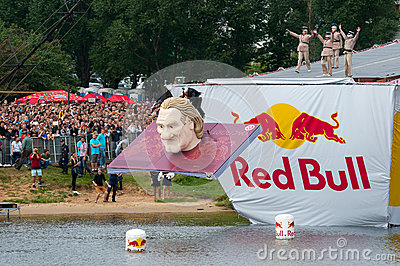 Red Bull Flugtag in Moscow 2013 Editorial Stock Image