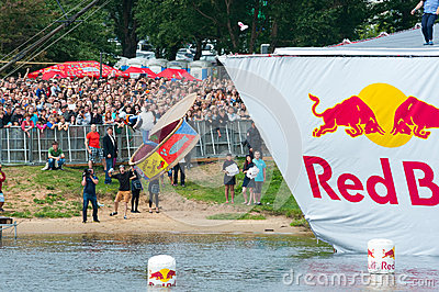 Red Bull Flugtag in Moscow 2013 Editorial Image