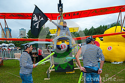 Red Bull Flugtag in Moscow 2013 Editorial Stock Photo