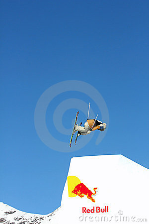 Red Bull Freestyle jump Editorial Photo