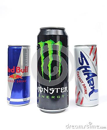 Red bull, monster, shark Editorial Image