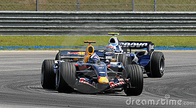 Red Bull Racing RB3 David Coulthard British F1 Sep Editorial Image