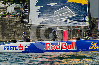 Red Bull Sailing Team compete Editorial Stock Photo