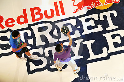 Red Bull street style competition final Editorial Image
