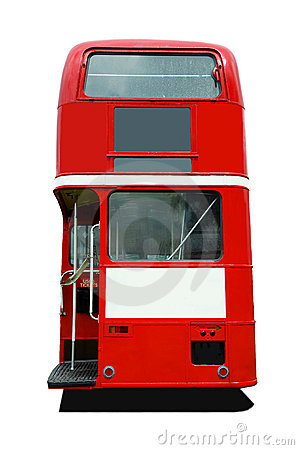 Free Red Bus Back Stock Photo - 9868120