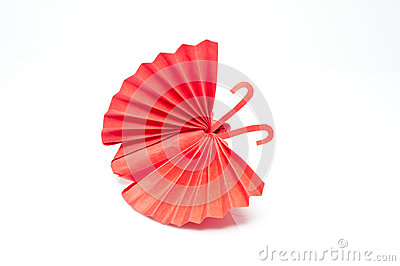 Red butterfly paper