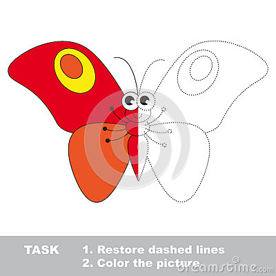 Number Names Worksheets butterfly trace : Butterfly Trace Stock Image - Image: 24145431