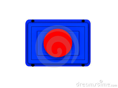 Red button icon