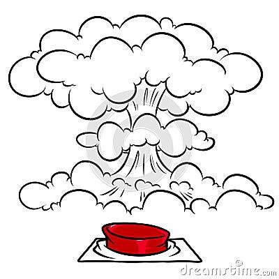 Free Red Button Nuclear Mushroom Explosion Cartoon Illustration Stock Photo - 125166840