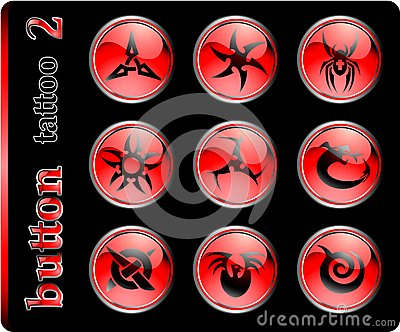 Red buttons, different symbols