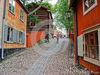 Red cabin in Skansen park (Stockholm, Sweden)