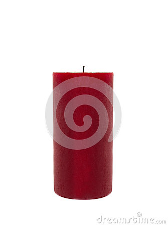 Free Red Candle Isolated Royalty Free Stock Photography - 60889187