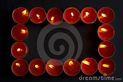 Red candles frame
