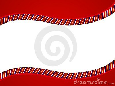 Red Candy Cane Swoosh Border