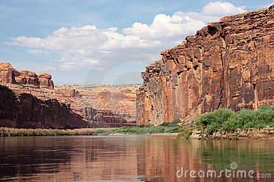 Red canyon and the Colorado River