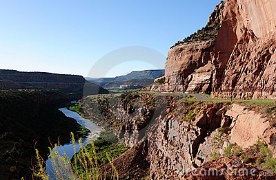 Red Canyon, River and Road