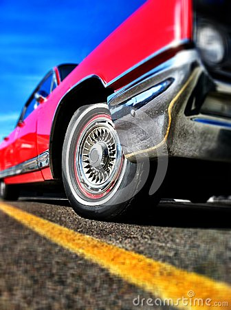 Free Red Car Americana Royalty Free Stock Photo - 27540725