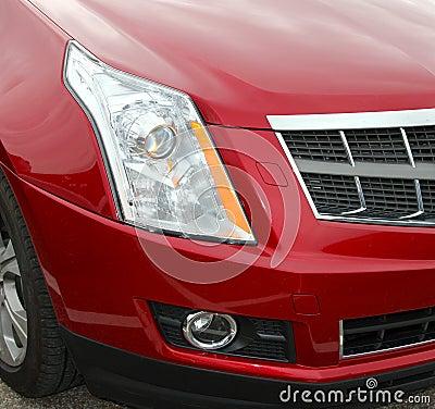Red Car Bumper Front Quarter of Car