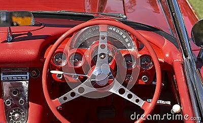 Red Car Steeering Wheel