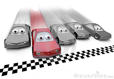 Red Car Wins the Race