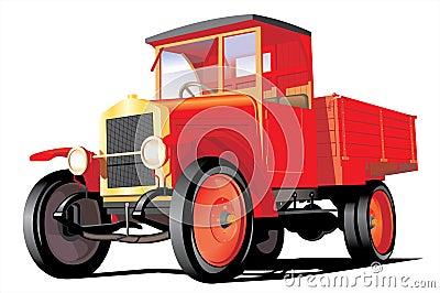 Red cargo truck