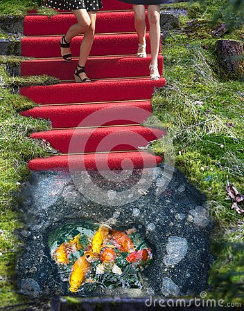 Free Red Carpet And Ice Hole Phantasy Royalty Free Stock Photography - 105857857