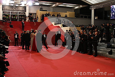 Red carpet Cannes Editorial Stock Image