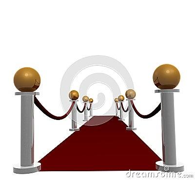 Red carpet hallway