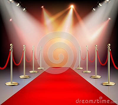 Free Red Carpet In Illumination Composition Royalty Free Stock Photos - 97166288