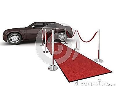 Red carpet Limousine Illustration