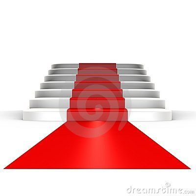 Free Red Carpet To Fame - A 3d Image Royalty Free Stock Images - 12776199