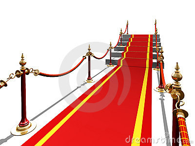 Red carpet to stair
