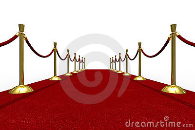 Red carpet on white background