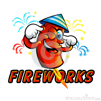 Free Red Cartoon Fireworks Royalty Free Stock Photos - 69940268