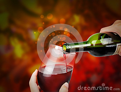 Red Celebration Wine with Sparkles