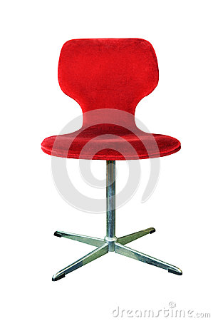 Red chair isolated on white