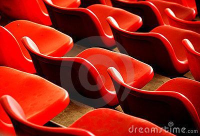 Red chairs and curves
