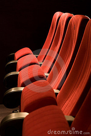 Free Red Chairs On The Empty Cinema Royalty Free Stock Photo - 7754265