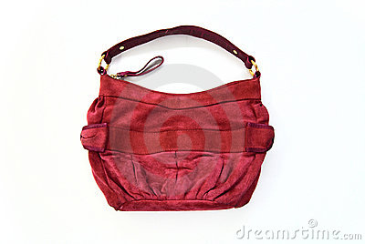Red chamois handbag