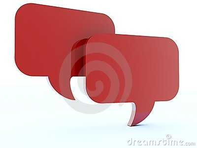 Red chat boxes