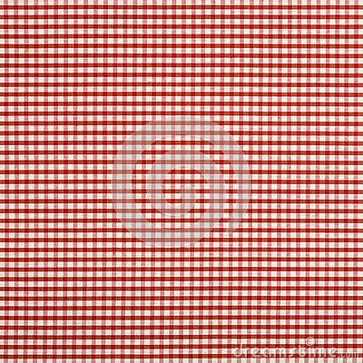 Red check cloth
