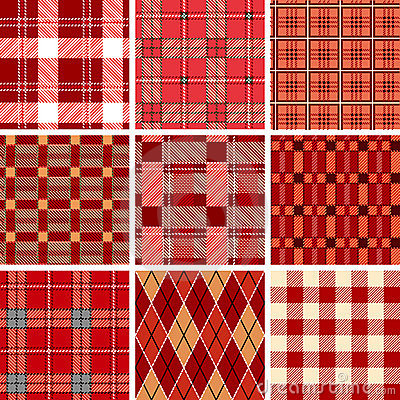 Red check pattern