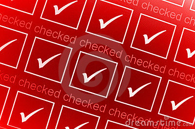 Red checked boxes