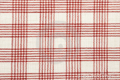 Red checked cotton fabric