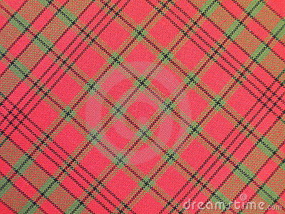 Red checked fabric