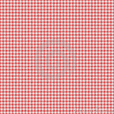 Red checked gingham plaid seamless background