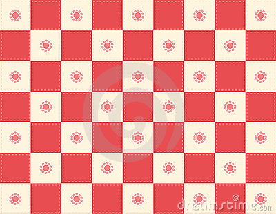 Red Checker+flowers