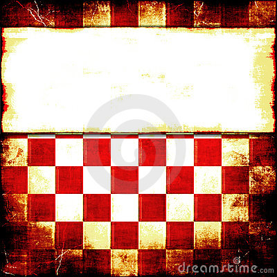 Red Checker Grunge