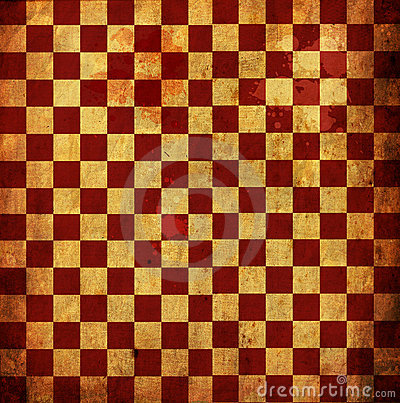 Red Checkered Grunge